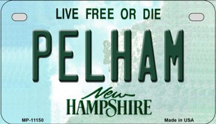 Pelham New Hampshire Novelty Metal Motorcycle Plate MP-11150