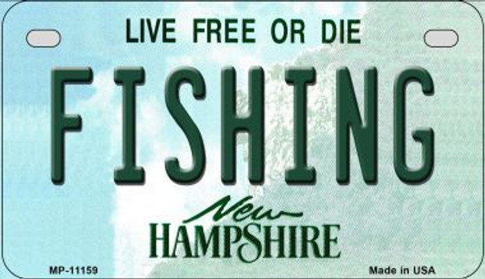 Fishing New Hampshire Novelty Metal Motorcycle Plate MP-11159