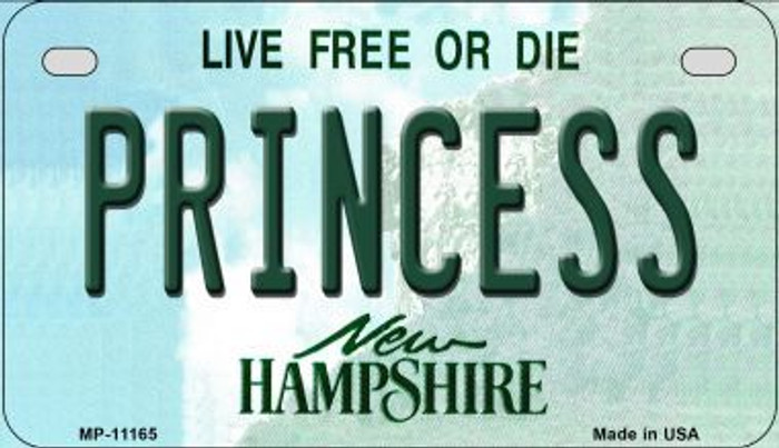 Princess New Hampshire Novelty Metal Motorcycle Plate MP-11165