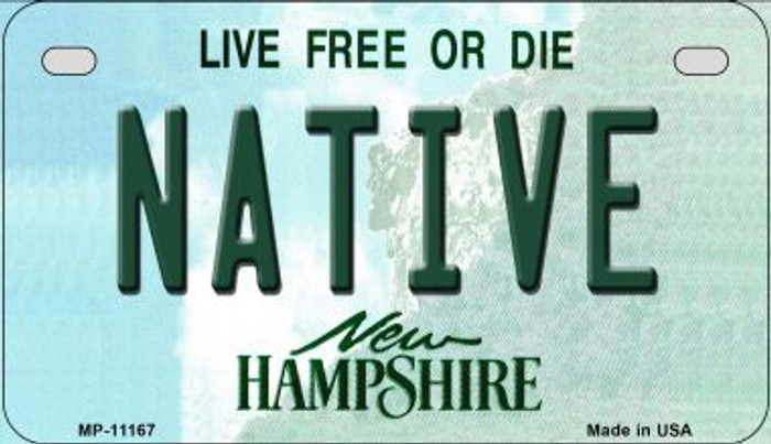 Native New Hampshire Novelty Metal Motorcycle Plate MP-11167