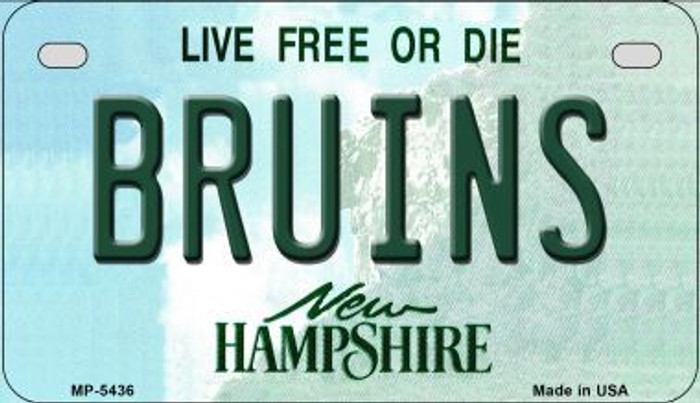 Bruins New Hampshire Novelty Metal Motorcycle Plate MP-5436
