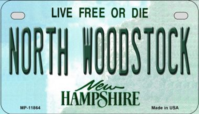 North Woodstock New Hampshire Novelty Metal Motorcycle Plate MP-11864