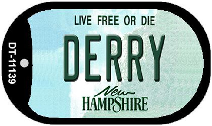 Derry New Hampshire Novelty Metal Dog Tag Necklace DT-11139