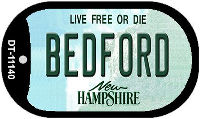 Bedford New Hampshire Novelty Metal Dog Tag Necklace DT-11140