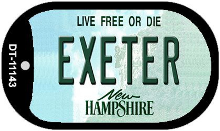 Exeter New Hampshire Novelty Metal Dog Tag Necklace DT-11143