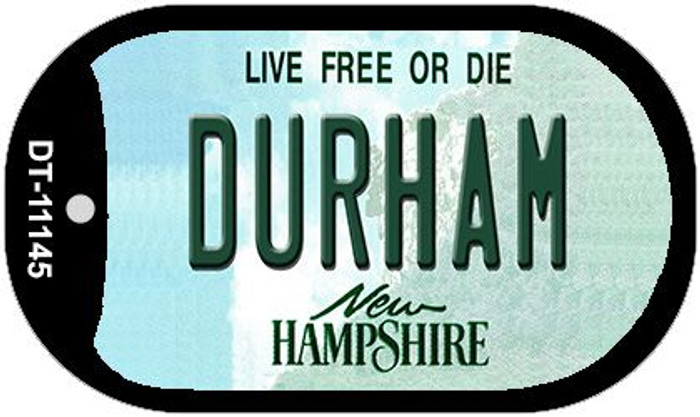 Durham New Hampshire Novelty Metal Dog Tag Necklace DT-11145