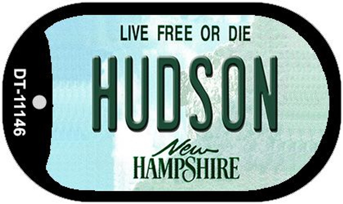 Hudson New Hampshire Novelty Metal Dog Tag Necklace DT-11146
