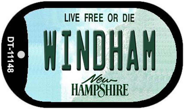 Windham New Hampshire Novelty Metal Dog Tag Necklace DT-11148