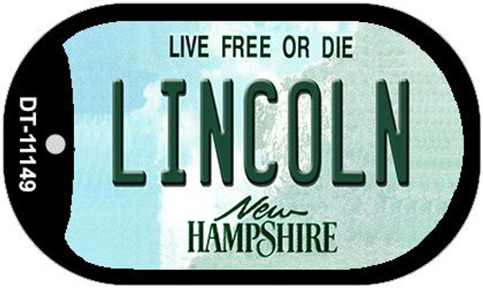 Lincoln New Hampshire Novelty Metal Dog Tag Necklace DT-11149