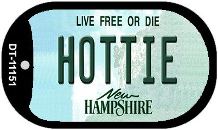 Hottie New Hampshire Novelty Metal Dog Tag Necklace DT-11151