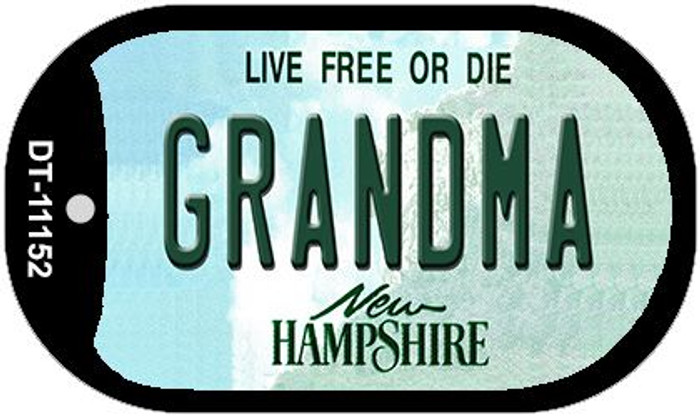 Grandma New Hampshire Novelty Metal Dog Tag Necklace DT-11152