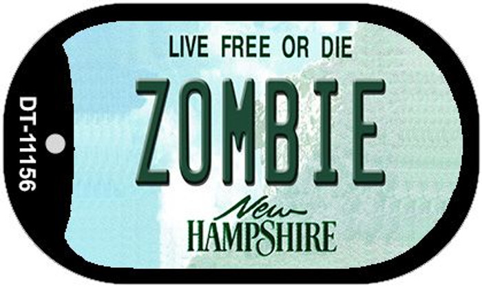Zombie New Hampshire Novelty Metal Dog Tag Necklace DT-11156