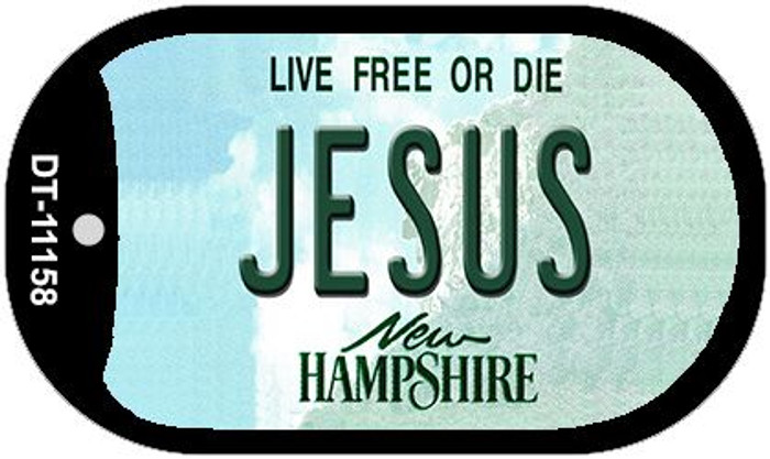 Jesus New Hampshire Novelty Metal Dog Tag Necklace DT-11158
