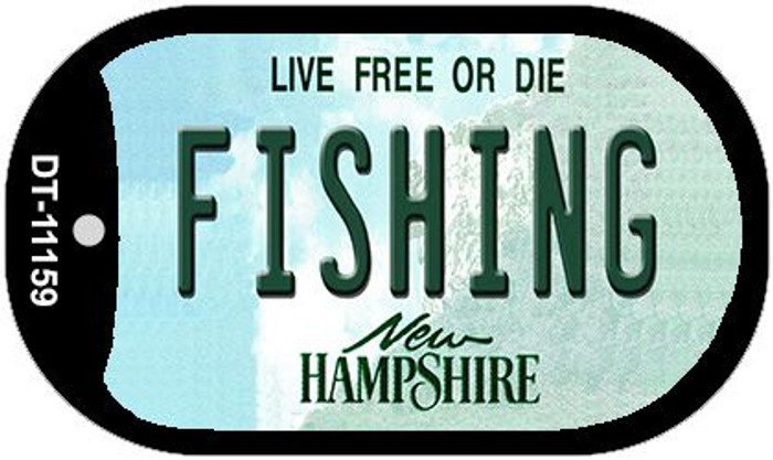 Fishing New Hampshire Novelty Metal Dog Tag Necklace DT-11159