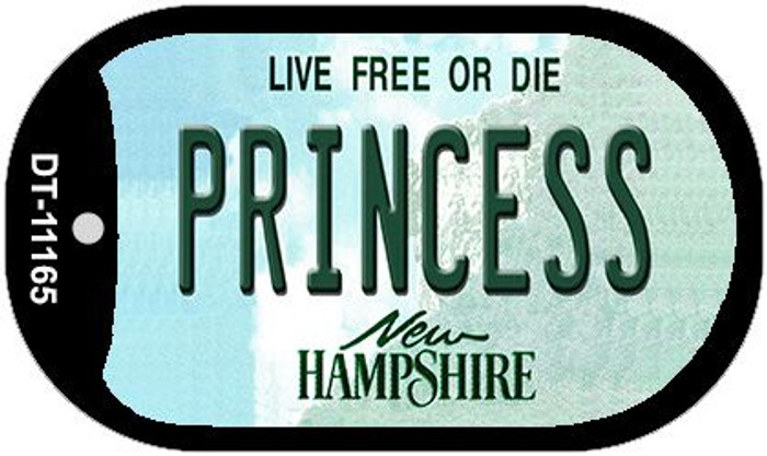 Princess New Hampshire Novelty Metal Dog Tag Necklace DT-11165