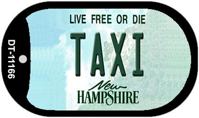 Taxi New Hampshire Novelty Metal Dog Tag Necklace DT-11166
