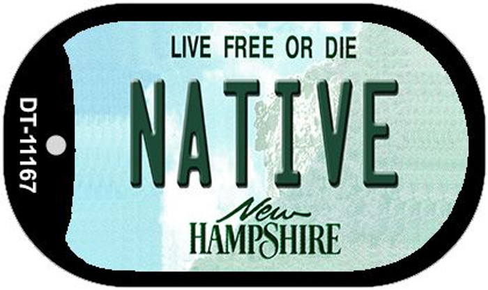 Native New Hampshire Novelty Metal Dog Tag Necklace DT-11167