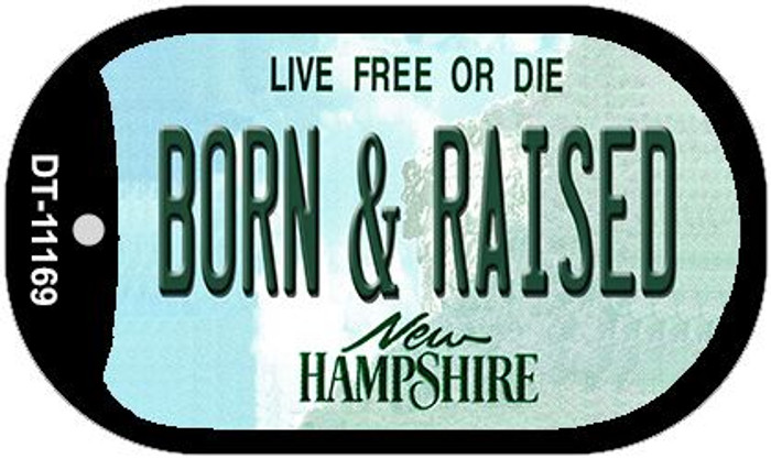 Born and Raised New Hampshire Novelty Metal Dog Tag Necklace DT-11169