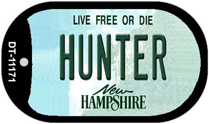 Hunter New Hampshire Novelty Metal Dog Tag Necklace DT-11171