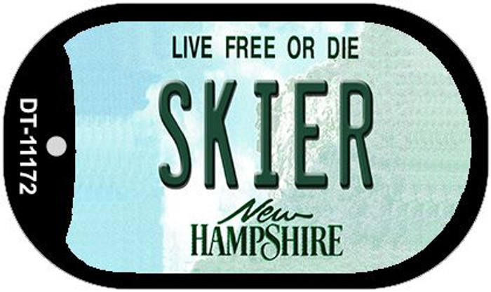 Skier New Hampshire Novelty Metal Dog Tag Necklace DT-11172