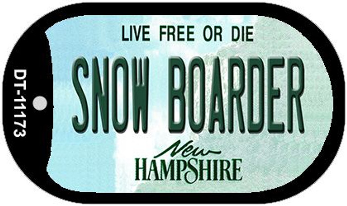 Snow Boarder New Hampshire Novelty Metal Dog Tag Necklace DT-11173
