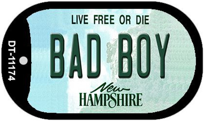 Bad Boy New Hampshire Novelty Metal Dog Tag Necklace DT-11174