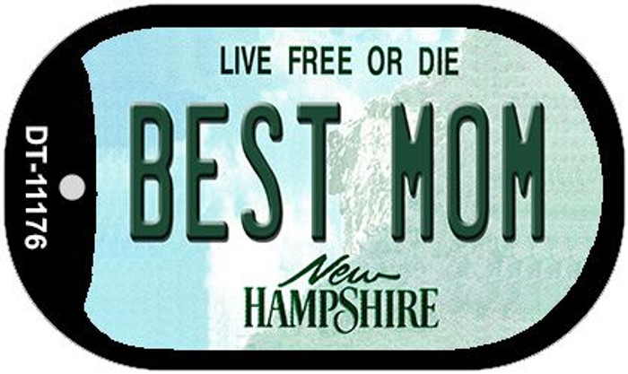 Best Mom New Hampshire Novelty Metal Dog Tag Necklace DT-11176