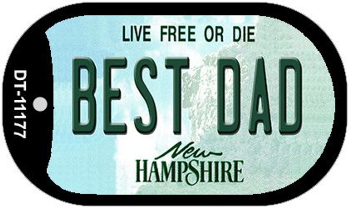 Best Dad New Hampshire Novelty Metal Dog Tag Necklace DT-11177