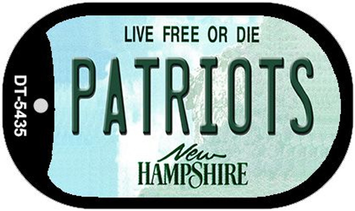Patriots New Hampshire Novelty Metal Dog Tag Necklace DT-5435