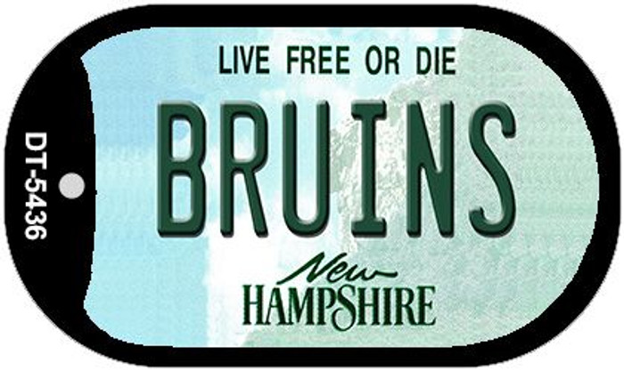 Bruins New Hampshire Novelty Metal Dog Tag Necklace DT-5436