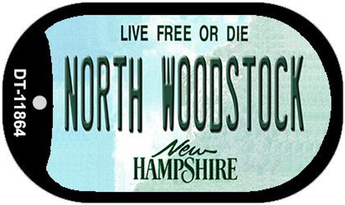 North Woodstock New Hampshire Novelty Metal Dog Tag Necklace DT-11864