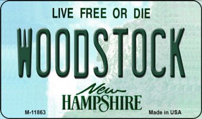 Woodstock New Hampshire Novelty Metal Magnet M-11863