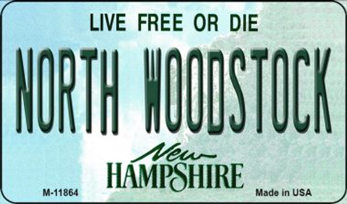 North Woodstock New Hampshire Novelty Metal Magnet M-11864