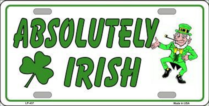 Absolutely Irish Metal Novelty License Plate