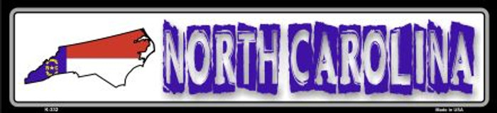 North Carolina State Outline Novelty Metal Vanity Small Street Sign