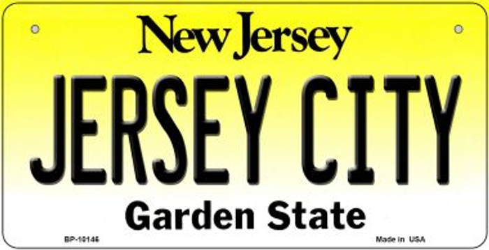 Jersey City New Jersey Novelty Metal Bicycle Plate BP-10146