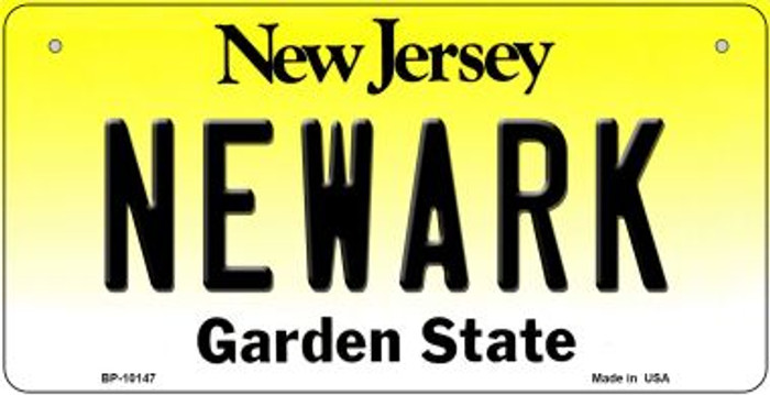 Newark New Jersey Novelty Metal Bicycle Plate BP-10147