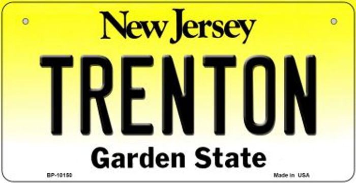 Trenton New Jersey Novelty Metal Bicycle Plate BP-10150