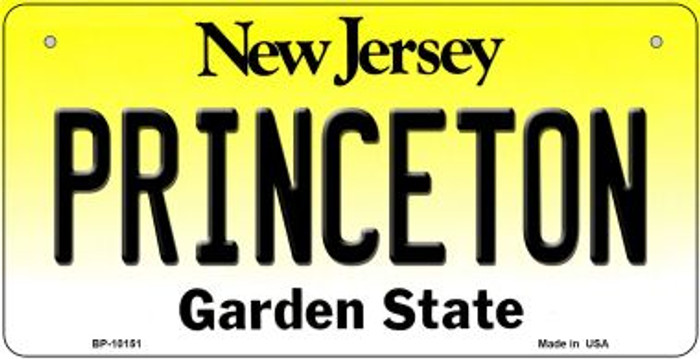 Princeton New Jersey Novelty Metal Bicycle Plate BP-10151