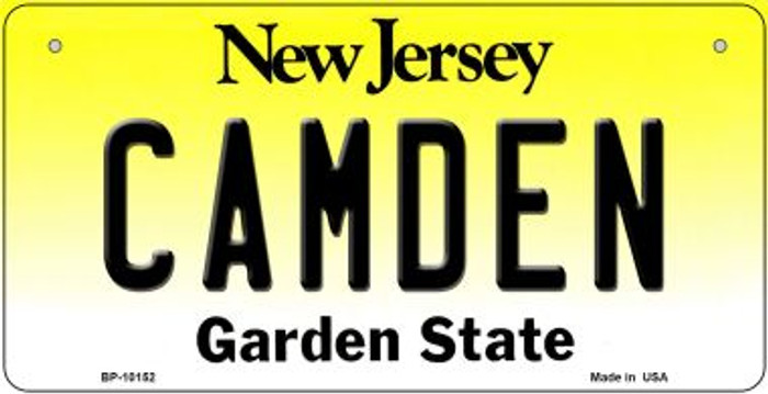 Camden New Jersey Novelty Metal Bicycle Plate BP-10152