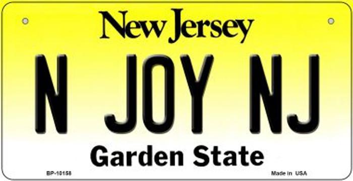 N Joy NJ New Jersey Novelty Metal Bicycle Plate BP-10158