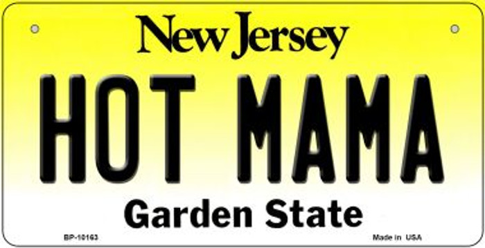Hot Mama New Jersey Novelty Metal Bicycle Plate BP-10163