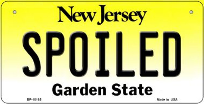 Spoiled New Jersey Novelty Metal Bicycle Plate BP-10165