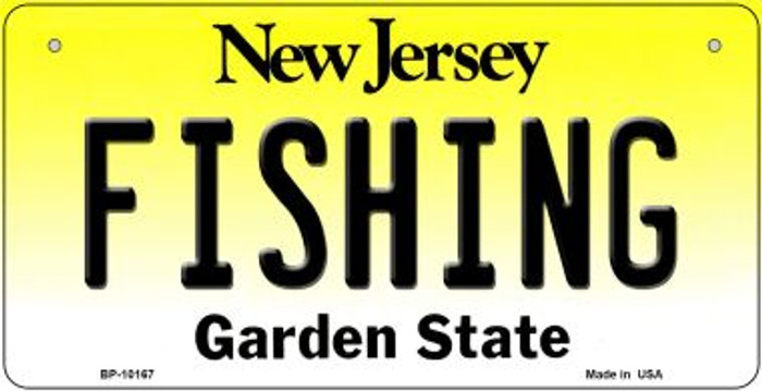 Fishing New Jersey Novelty Metal Bicycle Plate BP-10167