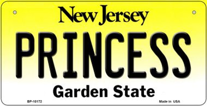 Princess New Jersey Novelty Metal Bicycle Plate BP-10172