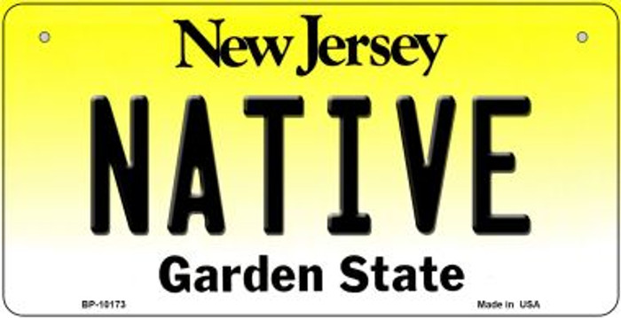 Native New Jersey Novelty Metal Bicycle Plate BP-10173