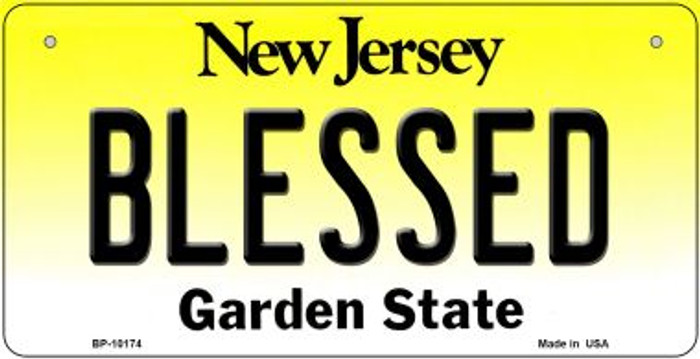 Blessed New Jersey Novelty Metal Bicycle Plate BP-10174
