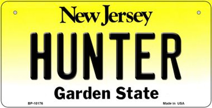 Hunter New Jersey Novelty Metal Bicycle Plate BP-10176
