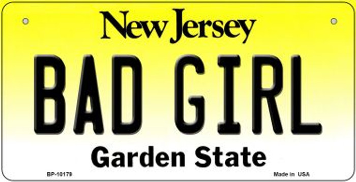 Bad Girl New Jersey Novelty Metal Bicycle Plate BP-10179