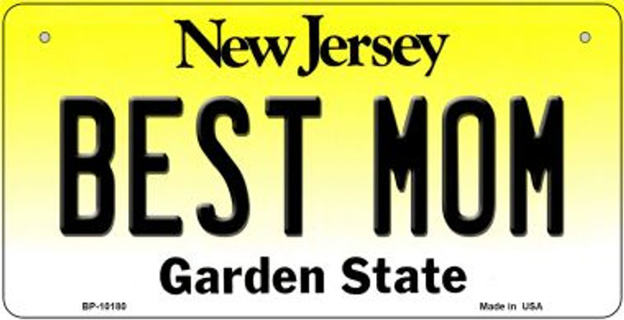 Best Mom New Jersey Novelty Metal Bicycle Plate BP-10180